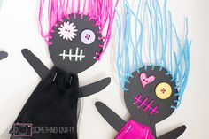 Halloween Crafts: Scary Doll Bunting - Let's Do Something Crafty
