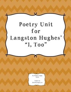 """what does langston hughes poem i too analysis Two of mr hughes poems, """"l, too"""" and """"democracy', one expresses feelings from an african american man's point of view at a time when they weren't allowed to have a voice to have a point of view."""