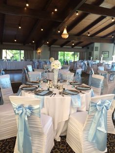 Pray-Wooten Wedding  #blueweddings #countryclubweddings #gaweddings #babybluewedding #weddingcenterpieces #weddinglinens #weddingballroom