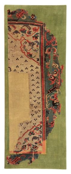Fragment Of A Double Niche Carpet Ushak 60 X 160 Cm 15th Or 16th