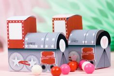 Valentine Candy Train Boxes - Free Printable