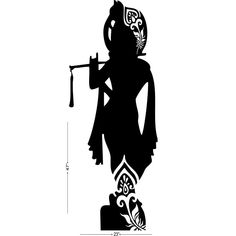 Studio Briana Standing Krishna with Flute Silhouette Wall Decal Sticker on Premium Vinyl Pencil Drawings Of Girls, Dancing Drawings, Art Drawings Sketches, Shiva Art, Krishna Art, Hindu Art, Mandala Art Lesson, Mandala Drawing, Lord Krishna Wallpapers