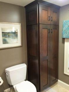 Lisa Scheff Designs - Small Bathroom cabinet - linen closet