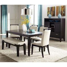 Trishelle Dining Room Set w/ Bench
