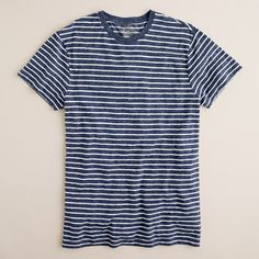 Mens Fashion 2 Pack Crew T Shirts Sky Blue Striped Medium Sale PJ £8.95 Two Pack