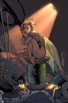 Tinkerbell by J. Scott CampbellYou can find J scott campbell and more on our website.Tinkerbell by J. Tinkerbell Drawing, Tinkerbell Movies, Comic Book Artists, Comic Books Art, Comic Art, J Scott Campbell, Girl Cartoon, Cartoon Art, Pixar