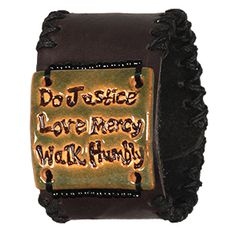 """@WorldCrafts {Do Justice Cuff ~ Back to Africa ~ Kenya} Hand-sewn and hand-beaded bracelet serves as a great reminder of God's truth to """"do justice, love mercy, and walk humbly."""" #fairtrade"""