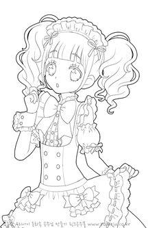 [프린트도안] 프리파라 색칠공부 새로운 그림! : 네이버 블로그 Chibi Coloring Pages, Sailor Moon Coloring Pages, Cute Coloring Pages, Adult Coloring Pages, Anime Chibi, Lineart Anime, Anime Drawings Sketches, Cool Art Drawings, Vintage Coloring Books