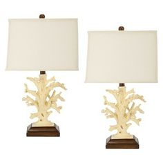 Target White Coral Table Lamp (Set of 2 $200)