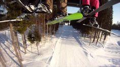 Video of downhill skiing at Tahko, Kuopio, Finland.