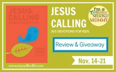 Today's giveaway is for the deluxe edition of Jesus Calling for Kids!
