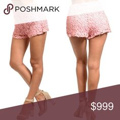 🌟FALL SALE🌟💟Blush High Waisted Shorts💟 These adorable floral crochet like shorts are coming soon to my closet! This cute crochet lace shorts features a slim fit high-waist fit. Zip up side. Fully lined. 100% cotton. Available in S-M-L. Shorts
