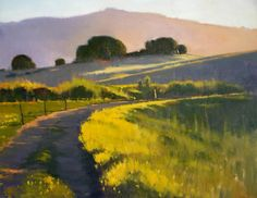 ".From the California Art Club -- Carolyn Hesse-Low, ""Back Road"" Oil, 16x20"" $2500"