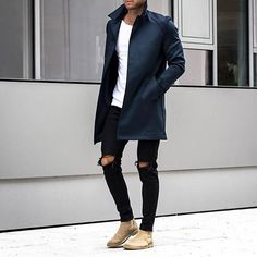 Casual wear X Mode Outfits, Casual Outfits, Fashion Outfits, Fashion Boots, Winter Outfits, Modern Men Street Style, Stylish Men, Men Casual, Casual Wear