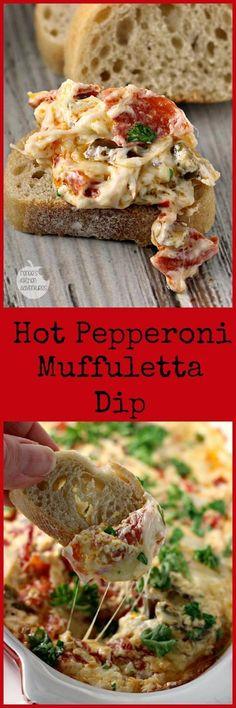 Hot Pepperoni Muffuletta Dip