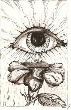 """Desenho feita para ilustrar o livro """"Opúsculo lírico"""" - Nanquim e grafite."""