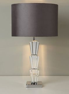 Mirror Noel Stacked Deco Table Lamp - contemporary - table lamps  - Home & Lighting