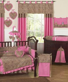 Another great find on #zulily! zulily-Exclusive Cheetah Girl Baby Nursery Bundle #zulilyfinds