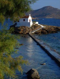 Church of Saint Isidoros - Leros island, Greece Santorini Villas, Myconos, Greek House, Cathedral Church, Picture Postcards, Greece Islands, Mediterranean Style, Greece Travel, Travel Around The World