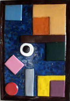 SM152 Farbkomposition mit schwarzem Punkt, Multiplex 44 b 65 h, atelier nafello, Stefan Moll
