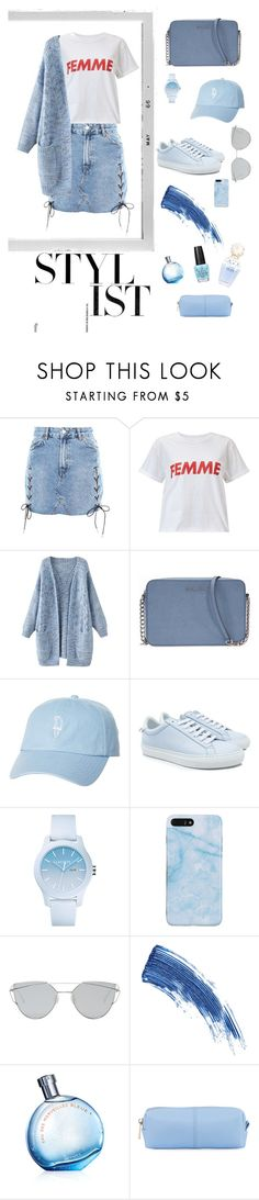 """""""Blue"""" by deichaac on Polyvore featuring Topshop, Polaroid, Miss Selfridge, Michael Kors, Rip Curl, Givenchy, Lacoste, Gentle Monster, Eyeko and KC Jagger"""