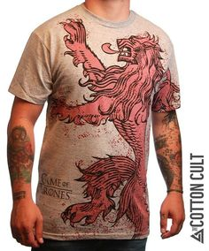 GAME OF THRONES - High Quality Tshirt LANNISTER Lion Crest HBO Tyrion SEASON $7.50