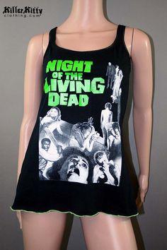 Night Of The Living Dead Horror Zombie Slub Tank Slouch Tunic Top