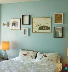 Paint colors for inspiration for our bedroom! Love the whole feel of the bedroom.