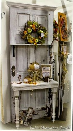 buy old door at a flea market specifically for this purpose, and fancy vintage doors can be crazy expensive! (They do have some other cool ideas on this page).