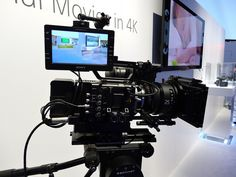 The PMW-F55 at the Sony booth at CES 2013