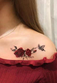 Feed Your Ink Addiction With 50 Of The Most Beautiful Rose Tattoo Designs For Men And Women - beautiful rose tattoo ideas © tattoo artist dahong Rose Tattoos For Women, Shoulder Tattoos For Women, Tattoo Designs For Women, Pretty Tattoos, Unique Tattoos, Cute Tattoos, Tatoos, Awesome Tattoos, Sexy Tattoos