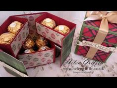 12th Day Of Christmas 2016 – Ferrero Rocher Stacked Gift Box Tutorial – Helen Griffin