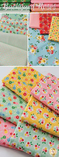 Backyard Roses by Nadra Ridgeway for Riley Blake Designs is an pretty floral fabric collection available at Shabby Fabrics