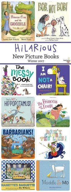 Funny picture books are the BEST for reading out loud with your kids, right? Not only will your kids laugh out loud, so will you with these new hilarious, silly, and giggle-inducing stories for your reading pleasure. Preschool Books, Book Activities, Sequencing Activities, Preschool Ideas, Kids Reading, Teaching Reading, Learning, Reading Books, Reading Lists
