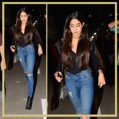 Global Citizen Festival: What Bollywood Celebs Wore To Coldplay's Mumbai Concert, Nov, 2016 Jhanvi Kapoor (daughter of and boney kapoor) via Bollywood Style, Bollywood Actors, Bollywood Celebrities, Bollywood Fashion, Night Outfits, Chic Outfits, Outfit Goals, Outfit Ideas, Coldplay Concert