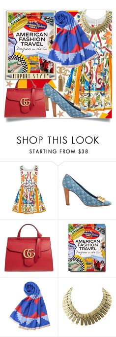 """""""Wanderlust Wonderful: Airport Style"""" by foreverfashion61 ❤ liked on Polyvore featuring Dolce&Gabbana, Louis Vuitton, Gucci, Assouline Publishing and airportstyle"""