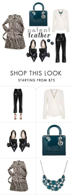 """""""Stylish Patent"""" by jackiecolbridge on Polyvore featuring self-portrait, Elizabeth and James, Christian Dior, Burberry, Lucky Brand and Poppy Finch"""