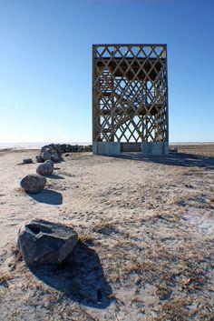 Meadow observation tower in Pärnu, Estonia