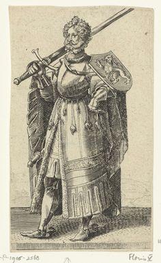 Portret van Floris V, graaf van Holland en Zeeland, Adriaen Matham, 1620