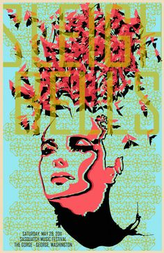 Screen printed Sleigh Bells Gigposter for Sasquatch 2011 by bmethe, $20.00