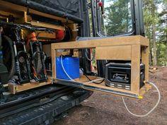 Exterior Shower for Camper Van Conversion Van Conversion Plumbing, Diy Van Conversions, Van Conversion Interior, Sprinter Van Conversion, Camper Van Conversion Diy, Build A Camper Van, Van Storage, Transit Camper, Van Home