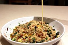 Oven Roasted Vegetable Quinoa with Crunchy Chickpeas #vegan #vegetarian #healthy