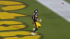 In honor of Antonio Brown now being the highest-paid WR in the NFL...a throwback to his what-on-earth-was-that touchdown celebration moment. LOL, that poor confused goalpost guard, though! This is still the best wacky celebration I've ever seen live. |Humor||Funny gifs||NFL humor||Steelers||Touchdown celebration fails||Football funny||Sports fails||Antonio Brown funny|