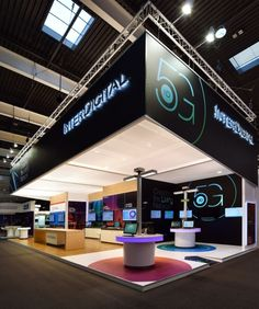 InterDigital booth by Glow Exhibitions at Mobile World Congress, Barcelona – Spain » Retail Design Blog