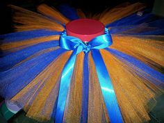 Birthday Tutu- Photography Prop- Blue & OrangeTutu- Handmade Tutu- No Sew Tutu -Florida Gators. To see more of my work please visit me on fb. Www.facebook.com/tutuamaezingboutique