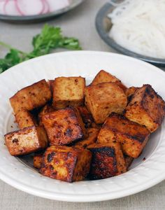 Simple ingredients like soy sauce, lemon juice, and maple syrup build big flavor in this tofu recipe!