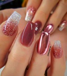 Minda's Ideas: Last-Minute Nail Ideas to Copy ASAP 2019 - nail polish – r. - Minda's Ideas: Last-Minute Nail Ideas to Copy ASAP 2019 – nail polish – ruby nails – # - Ruby Nails, New Year's Nails, Pink Nails, Matt Nails, Black Nails, Gorgeous Nails, Pretty Nails, Vegas Nails, Fall Nail Art Designs