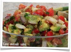 Easy avocado salsa