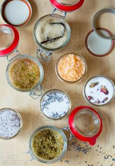 """Flavored Sugars (recipe) - """"From spicy, to boozy, to flower scented, these sugars are wonderful to have on hand for stirring into coffee, sprinkling over oatmeal, or even sprinkling on plain sugar cookies."""""""