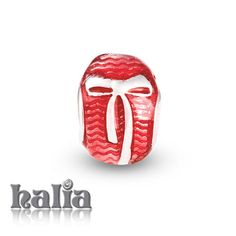 Easter Egg: Red adorned with a playful bow, enamel on sterling silver bead: designed exclusively by Halia, this bead fits other popular bead-style charm bracelets as well. Sterling silver, hypo-allergenic and nickel free.       $42.00